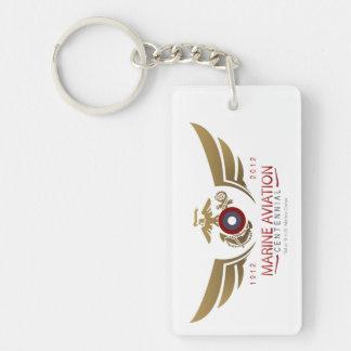 AVI Centenial Logo Double-Sided Rectangular Acrylic Keychain