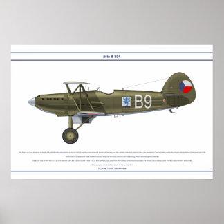 Avia B-534 Czech 4 Poster