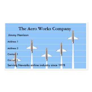 Aviación de la aeronáutica de la línea aérea del tarjetas de visita