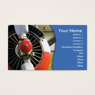 aviación de la plantilla de la tarjeta de visita