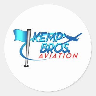 Aviación de los hermanos de Kemp Etiquetas Redondas