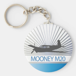 Aviación de Mooney M20 Llavero Redondo Tipo Pin
