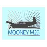 Aviación de Mooney M20 Tarjetas Postales