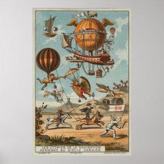 Aviación de utopía de la fantasía póster