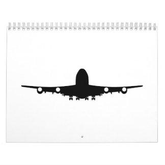 Aviación del aeroplano calendarios