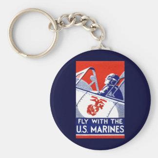 Aviación del Cuerpo del Marines de WWII Llavero Personalizado