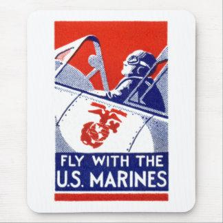 Aviación del Cuerpo del Marines de WWII Alfombrillas De Ratones