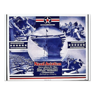 """Aviación naval invitación 4.25"""" x 5.5"""""""