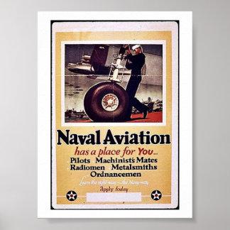 Aviación naval póster