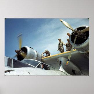 Aviación naval WW2 Póster