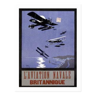 Aviación Navale Britannique de L Tarjeta Postal