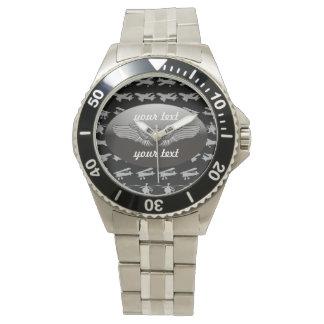 Aviación personalizada relojes de pulsera