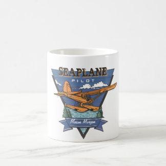 Aviación - piloto del hidroavión taza clásica