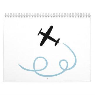 Aviación plana calendario