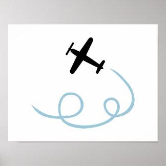Aviación plana póster