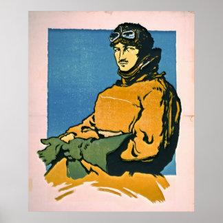 Aviador 1916 del vintage posters
