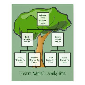 """Aviador adaptable del árbol de familia folleto 4.5"""" x 5.6"""""""