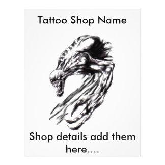Aviador adaptable del arte del tatuaje tarjetas informativas