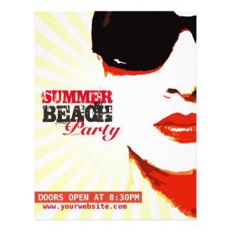 """aviador al fiesta de la playa del verano folleto 8.5"""" x 11"""""""