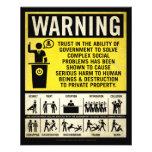 Aviador amonestador del gobierno tarjetas informativas