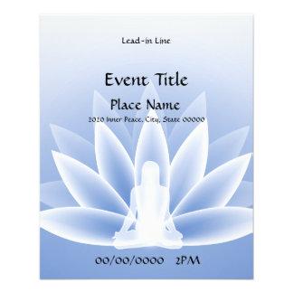 Aviador azul del acontecimiento de Lotus de la yog Tarjetas Publicitarias