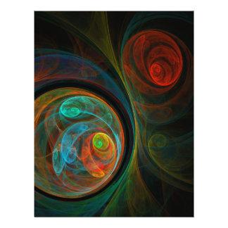 """Aviador azul del arte abstracto del renacimiento folleto 8.5"""" x 11"""""""