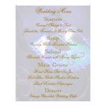 Aviador azul del menú del boda de la bola de masca tarjetones