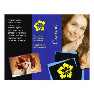 """Aviador azul elegante del diseño del pelo de la folleto 8.5"""" x 11"""""""