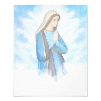 Aviador bendecido del Virgen María Tarjetas Informativas