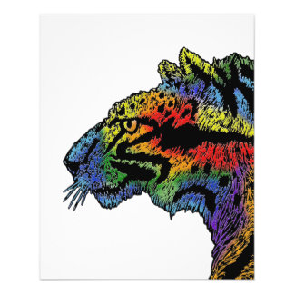 "Aviador (blanco) 4.5x5.6 del leopardo del arco folleto 4.5"" x 5.6"""