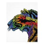 """Aviador (blanco) del leopardo del arco iris 8,5"""" x tarjetas publicitarias"""