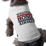 Aviador casero agradable camisa de mascota