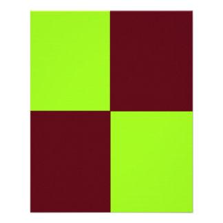 """Aviador chartreuse y de Brown AJUSTABLE Folleto 4.5"""" X 5.6"""""""
