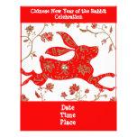 Aviador chino de la astrología del conejo tarjetas informativas