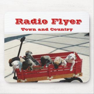 Aviador, ciudad y país de radio mousepad