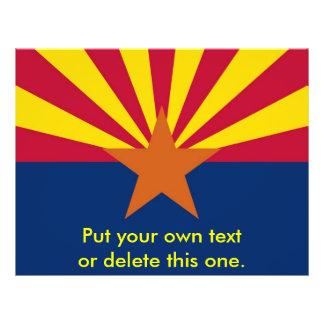 "Aviador con la bandera de Arizona, los E.E.U.U. Folleto 8.5"" X 11"""
