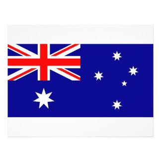 "Aviador con la bandera de Australia Folleto 8.5"" X 11"""