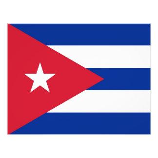"""Aviador con la bandera de Cuba Folleto 8.5"""" X 11"""""""