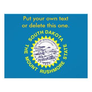 """Aviador con la bandera de Dakota del Sur, los Folleto 8.5"""" X 11"""""""