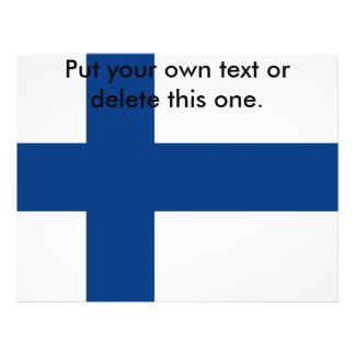 """Aviador con la bandera de Finlandia Folleto 8.5"""" X 11"""""""