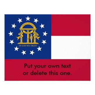"Aviador con la bandera de Georgia, los E.E.U.U. Folleto 8.5"" X 11"""