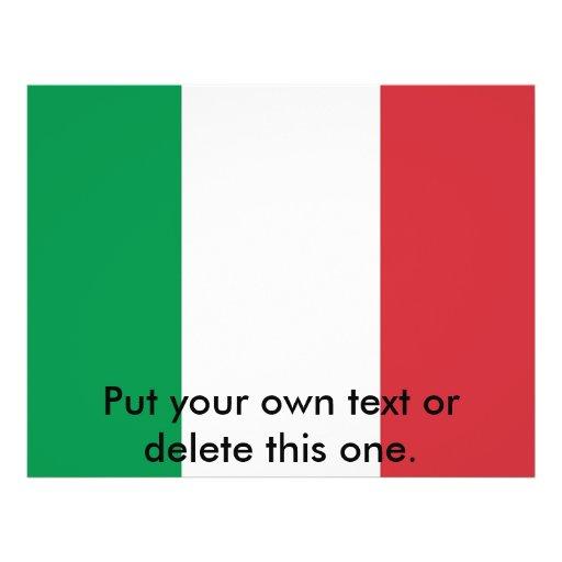 Aviador con la bandera de Italia Tarjetas Informativas