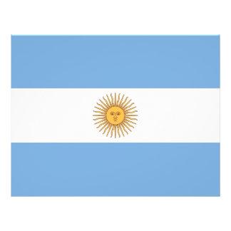 """Aviador con la bandera de la Argentina Folleto 8.5"""" X 11"""""""