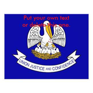 "Aviador con la bandera de Luisiana, los E.E.U.U. Folleto 8.5"" X 11"""