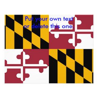 """Aviador con la bandera de Maryland, los E.E.U.U. Folleto 8.5"""" X 11"""""""