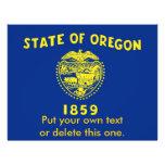 Aviador con la bandera de Oregon, los E.E.U.U. Tarjeton