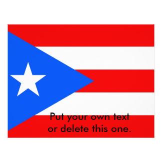 """Aviador con la bandera de Puerto Rico, los Folleto 8.5"""" X 11"""""""