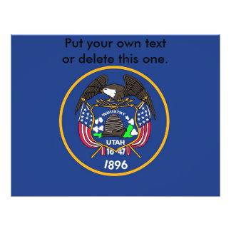 "Aviador con la bandera de Utah, los E.E.U.U. Folleto 8.5"" X 11"""