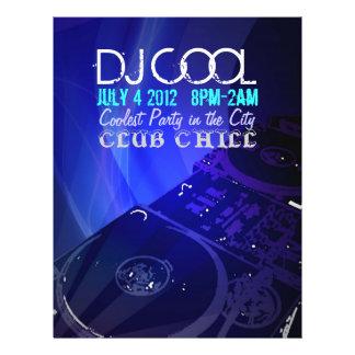 """Aviador de DJ Folleto 8.5"""" X 11"""""""