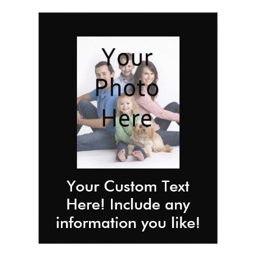 Aviador de encargo de la foto flyer personalizado
